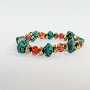 💥3 for $25💥 Semi Precious Stone Stretch Bracelet
